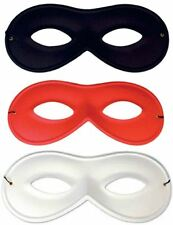 ADULT SUPERHERO INCREDIBLES RAYON SMALL RED BLACK WHITE FANCY DRESS EYE MASK