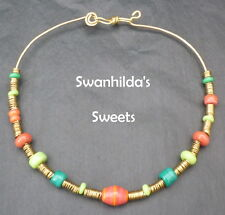 NECKLACE REENACTMENT HANDCRAFTED OOAK ANGLO-SAXON LARP SWSW