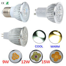 Dimmable E27 GU10 MR16 9W 12W 15W LED Bombilla Spot Light Lamp Bulb Lemonbest