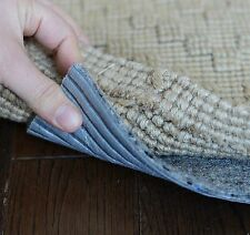 """Eco Fiber Touch Non Slip Rug Pad - SQUARE SIZES - 1/4"""" Thick SAFE for floors"""