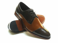 Stacy Adams Steadman Wing-Tip Lace-Up Shoes - Tan Multi