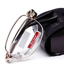 New Compact Folding Reading Glasses & Black Snap Case with Belt Clip +1.00 ~4.00