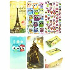 Cute Owl Eiffel Tower Flower TPU Gel Soft Case Cover Skin for Huawei Ascend Y300