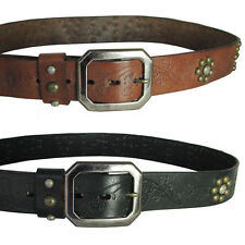 True Religion Mens Los Angeles Studded Premium Leather Belt
