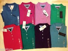 Authentic NWT Tommy Hilfiger Women Short Sleeve Polo Tee T-shirt Top 7611680