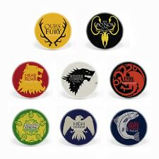 Game of Thrones House Sigils 1.25'' Button Pins A Song of Ice and Fire Stark