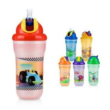 NUBY INSULATED NO-SPILL FLIP-IT STRAW CUP 9 OZ MODEL 9609