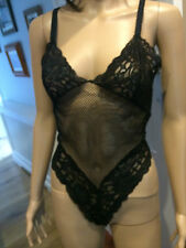 NEW TEMPTATIONS BLACK LACE FISHNET BODY STOCKING ROLE PLAY POLE DANCE S/M