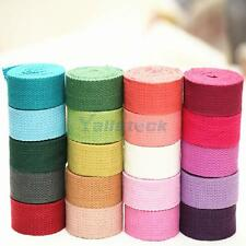 2Yard Sewing Cotton Canvas Webbing Tape Bag Strap Belt Sling 32mm Width 8 Colors