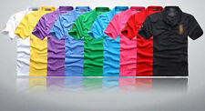 Men's Polo Sweater Casual T-shirts Tops Graphic Embroldered Short Sleeve Tee HC