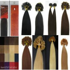 New 16-26'' Keratin Nail/U Tip Remy Human Hair Extensions Straight 100s 8Colors