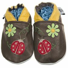 Soft Sole Leather Baby Toddler Pram Shoes - Ladybird 0-6, 6-12, 12-18, 18-24