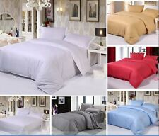 Top Luxury Satin Cotton Striped Pillow Cases Quilt Cover Bedding Linen Sets,Free