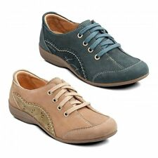 Padders GRAPE Womens Ladies Leather Lace-Up Wide E Fit Comfy Padded Casual Shoes