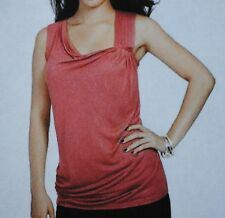 NWT $40 Daisy Fuentes Petites Pintuck Salmon-Colored Tank Top  Sizes PXS PL PXL