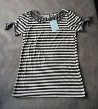 NWT $38 Urban Outfitters Very Stylish Black & White Striped Top  Size S