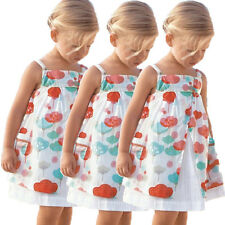baby girl princess summer beach sundress wear floral dress skirt one-piece dress