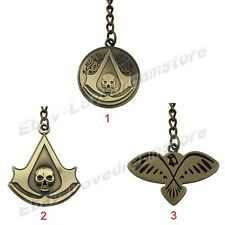 Cool!Assassin's Creed Black Flag Logo Pewt Metal Key Ring Chain New In Box Brass