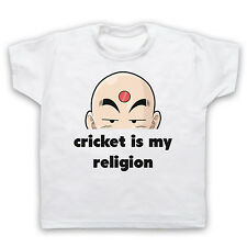 CRICKET IS MY RELIGION FUNNY HUMOROUS RETRO FASHION KIDS BOYS GIRLS T-SHIRT TEE