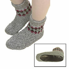 35 Sport Snuggle Slippers with Cushioned Vinyl Soles Knit Stretchy Men & Women