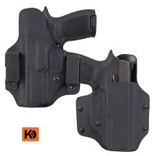 K Rounds OWB Black Pancake Concealment Holster Springfield- KYDEX -Free Shipping