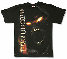 "DISTURBED ""FIRE EYES"" BLACK T-SHIRT NEW OFFICIAL ADULT BAND"