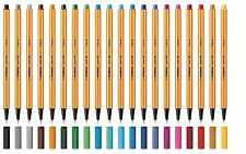 Stabilo Point 88 Fineliner Drawing Pen 0.4mm Fine - 20 Colours Qty 1,2,3,6 or 10