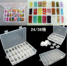 Plastic Storage Boxs Compartment Organiser, Fishing Tackle Box, Beads, Jewellery