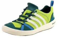 Adidas Men's Climacool Boat Lace Fashion Slime/Chalk/Blue Sneaker Water Shoes