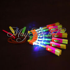 1/12 Flying Rotating Rocket Helicopter Flash LED Light Toy Fun Elastic Gift W