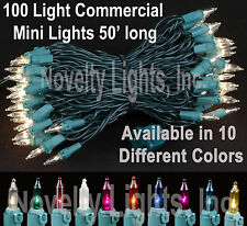 50 Foot Outdoor Christmas Patio Mini Light String Lights-Set of 100 Mini Lights