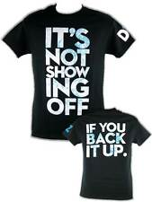 Dolph Ziggler It's Not Showing Off Back It Up Mens Black T-shirt
