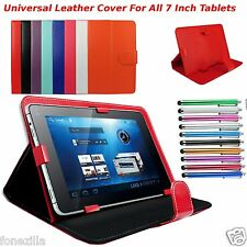 "Universal Leather Stand Case Cover For All  7"" 7 Android Tablet Tab Galaxy"