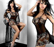 Sexy Lingerie Temptation Underwear Nightwear Long Gown Babydoll Robe Sleepwear