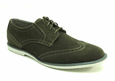 Calvin Klein Men's Faxon Wing Tip Oxford Suede Shoe - Hunter Green