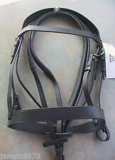 PLAIN HUNTER BRIDLE WITH THICK NOSEBAND