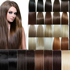 """Womens 24"""" 21 Colors Clip in on Synthetic Long Hair Extensions Straight 5clips"""