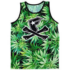 Famous Stars & Straps Men's Herb Weed Tank Top Green  Marijuana Weed  Smoke