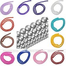 Czech Opaque Coated Round Glass Beads for Jewelry Making 4mm 6mm 8mm 10mm 12mm