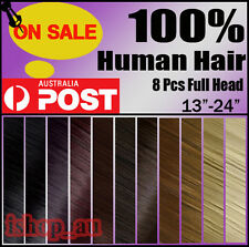 "Sale Promotion full head clip in remy human hair extensions 13""16""18""20""22"" io"