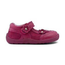 Start-rite Petals New Girls First Walking Shoes In Dark Red Leather