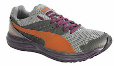Puma Faas 800 S Womens Trainers Running Shoes Grey Orange Lace Up 186314 02 D23