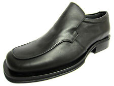 Mens Gass Black Leather Slip On Formal Shoes P83