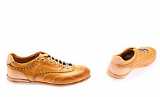 Men's Shoes LA MARTINA Mars Mustard Yellow L6040122 Leather Vint New Made Italy