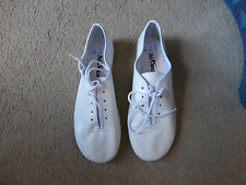 White leather full sole jazz shoes - assorted brands