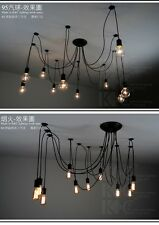 6 8 10 12 14 Lights remote LED Edison Bulb Chandelier Club Light Pendant Lamp