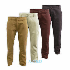 Mens Straight Leg Chinos Kushiro Jeans Casual Trousers Size 28 30 32 34 36 38