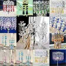 55# New Crystal Glass Prism Chandelier Wedding Curtain Deco Parts Bead Pendant