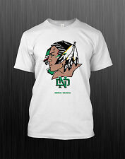 NCAA College Sport North Dakota Fighting Sioux White Polyester T Shirt AA172102