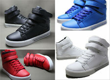 Hot Men Korean Style The High-top Casual Shoes Magic Buckle Walking Sneakers